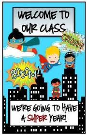 five on the fifth superhero classroom door superhero classroom