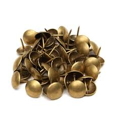 50 100pcs antique upholstery tacks brass nails furniture decor