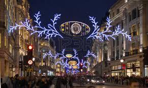 london uk november 30 2014 christmas lights on regent street