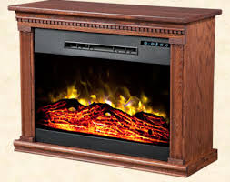 Amish Electric Fireplace Roll N Glow Heat Surge Amish Electric Fireplace Heater Home