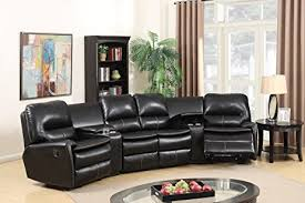 home theater sectional sofa set amazon com black leather air 5pc home theatre sectional sofa living