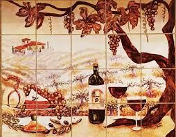 the vineyard tile murals tuscan wine tiles kitchen backsplashes