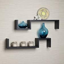 Wall Shelves by Amazon Com Danya B Yu017 Set Of 2 Color S Wall Mount Shelves