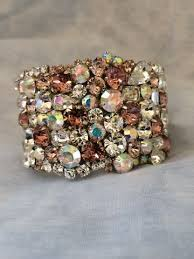 wedding jewelry bracelet crystal images Blush peach wedding jewelry collection the crystal rose bridal jpg