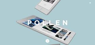 minimalist design pollenlondon best website design