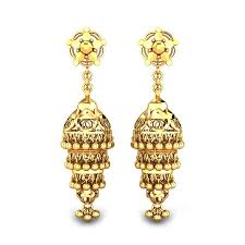 gold ear ring image yellow gold 22k nargis gold earring candere