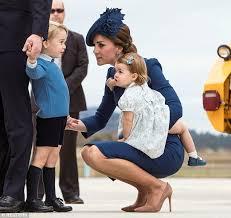 Kate Middleton Meme - kate middleton squats down to speak to prince george on their canada