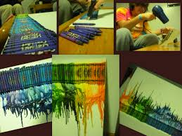 Hair Dryer Glue crayon melting canvas crayons hair dryer glue gun glue crayons