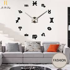 Large Mirrored Wall Clock Aliexpress Com Buy Large Mirror Wall Stickers Clock Living Room
