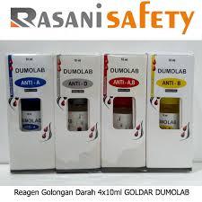 Serum Tes Golongan Darah reagen golongan darah 4x10ml dumolab rasani safety