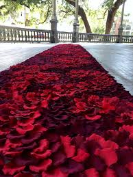 petal aisle runner plum burgundy crimson plum petal aisle