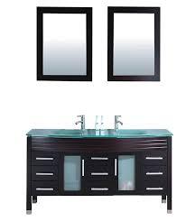 Espresso Vanity Table Agerta 63 Inch Double Sink Bathroom Vanity Set Espresso Finish