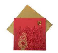 sikh wedding invitations wedding cards with peacock design in and golden