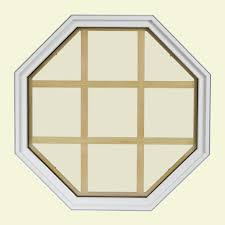 tafco windows 22 25 in x 22 25 in fixed octagon geometric vinyl