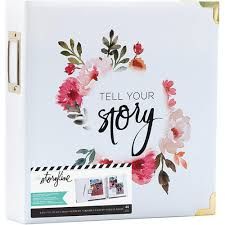 8x11 photo album heidi swapp 8x11 album storyline 2 d ring white floral 44