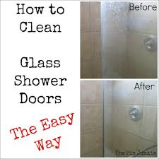 How To Clean Shower Door Tracks Door Cleaner How To Clean The Plastic On A Glass Shower With