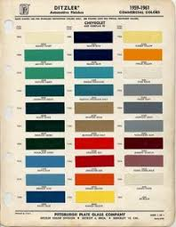 color chip selection 1958 chevy apache pinterest chips