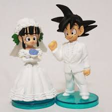 z cake topper z goku chichi figure for wedding cake topper