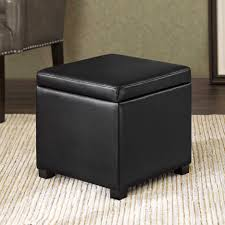 Fabric Storage Ottoman With Tray Ottomans Square Storage Ottoman With Tray Storage Ottoman With