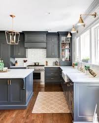 grey kitchen cabinets with brown wood floors top 50 best grey kitchen ideas refined interior designs