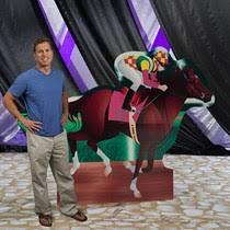 Horse Jockey Halloween Costume Horse Jockey Photo Stand Shindigz