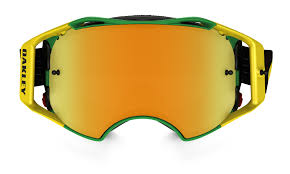 motocross goggle oakley airbrake mx goggle shockwave green yellow 24k iridium lens