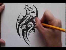 pencil shading around tribal wolf tattoo design real time youtube