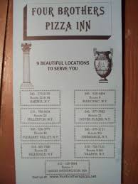 four brothers pizza inn menu menu for four brothers pizza inn