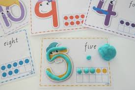 free printable shape playdough mats printable number play dough mats learning 4 kids