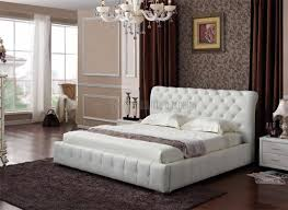 double size gas lift upholstered pu bed frame