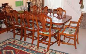 Yew Dining Table And Chairs Antiques Atlas Yew D End Table And 8 Wheatsheaf Style Chairs