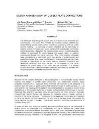 design and behavior of gusset plate connections pdf download