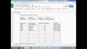 Inventory Spreadsheet Inventory Count Sheet Youtube