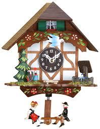 German Clocks Black Forest Swinging Doll Clock Quartz Movement 15cm By Trenkle