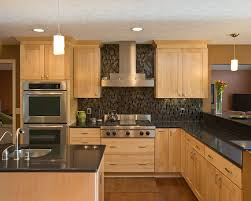 light wood kitchen cabinets with black countertops contemporary kitchen design light wood cabinets black