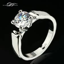 jewellery rings silver images Double fair 1 25 carat round cut cubic zircon engagement rings jpg