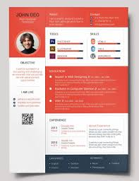 Resume Web Templates Free Resume Templates Cool A Cv Photoshop Template Creative Ui
