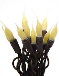 primitive silicone dipped bulb and brown cord string lights