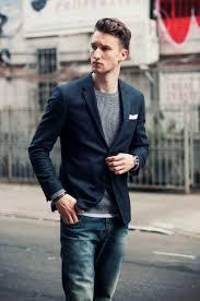 blazer sweater how to wear a navy blazer with a grey sweater s fashion