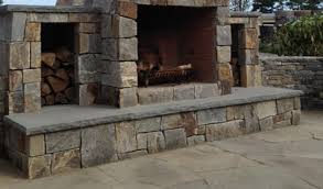 Outdoor Fieldstone Fireplace - outdoor fireplaces stone fireplace kits cape cod ma new england