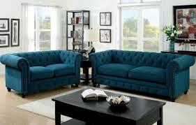 sofa blue tufted sofa positivecircumstances tufted velour sofa