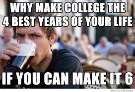 Drunk College Student Meme - lazy college senior weknowmemes