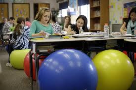 Yoga Ball Desk Chair by Pennsylvania Swaps Desks For Yoga Balls To Help Students