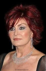 how to get sharon osbournes haircolor sharon osbourne in short hairstyle with vivid red hair color