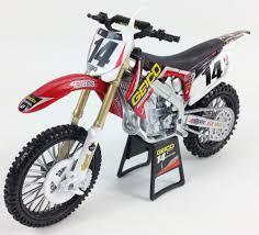 motocross toy bikes new ray toy model 1 6 bike geico honda crf 450 motocross team usa