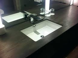 sinks double trough sink vanity top white dark wood trough sink