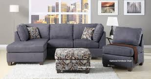Curved Sectional Sofa With Chaise by Sofa Beige And Brown Leather Fabric Sectional Sofa With Chaise