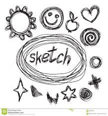 heart symbol sketches stock illustration image 46706447