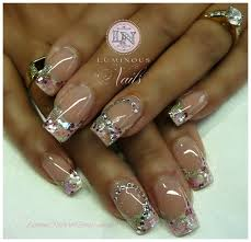 white clear nail design clear nails with designs nail hair styles