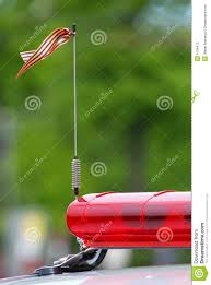 Car Antenna Flags Antenna On The Roof Of Police Car Stock Photo Image 5126412